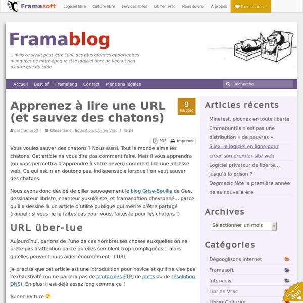 Apprenez à lire une URL (et sauvez des chatons) – Framablog