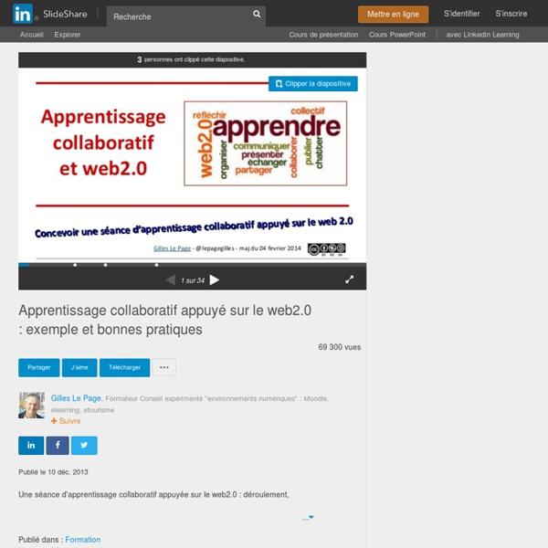 Apprentissage collaboratif appuyé sur le web2.0 : exemple et bonne ...