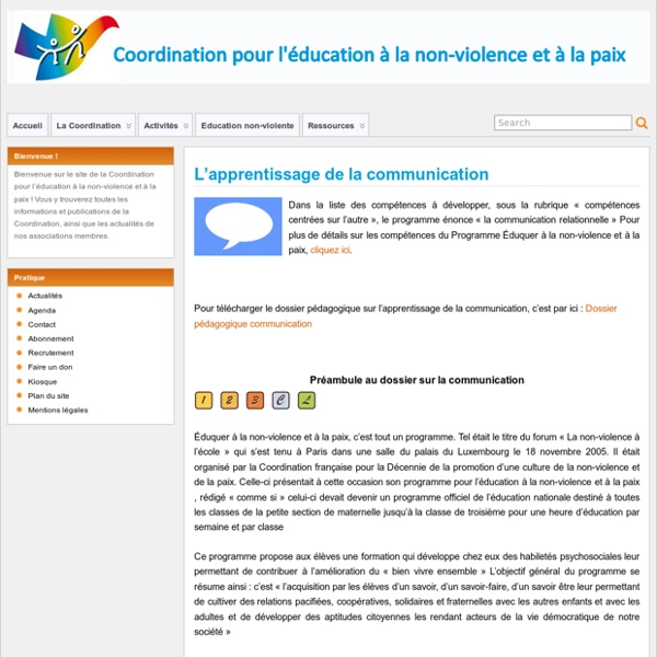 L'apprentissage de la communication