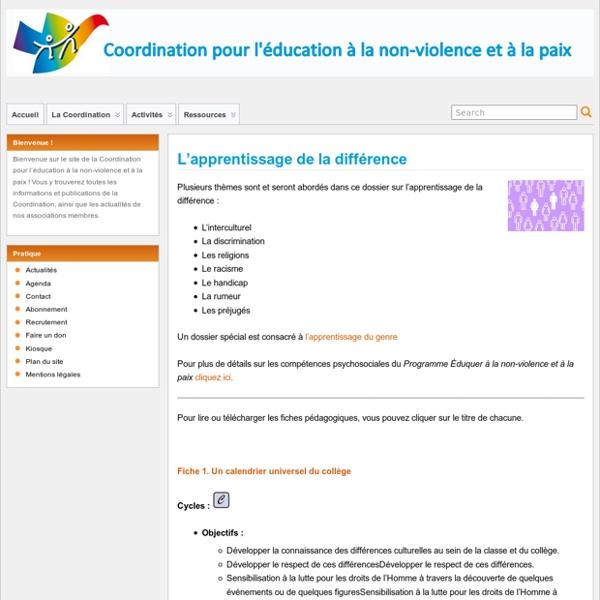 """Article : """"L'apprentissage de la différence"""""""