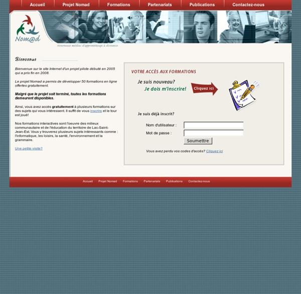 Nomad - Le reseau d'apprentissage - Formation en ligne gratuite aux adultes