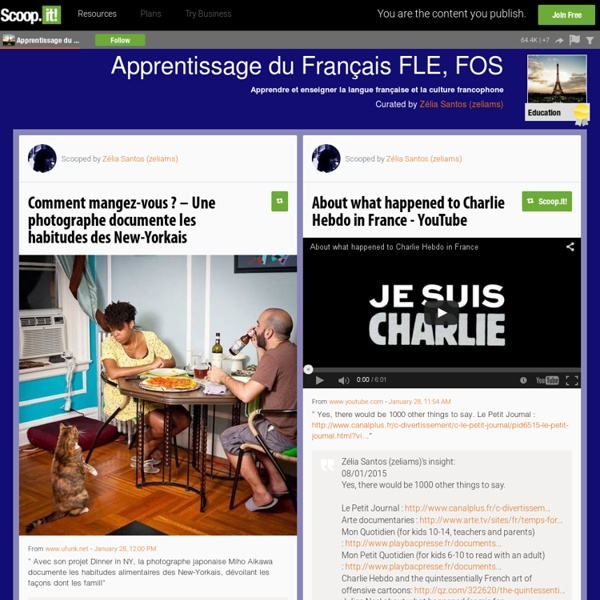 Apprentissage du Français FLE, FOS