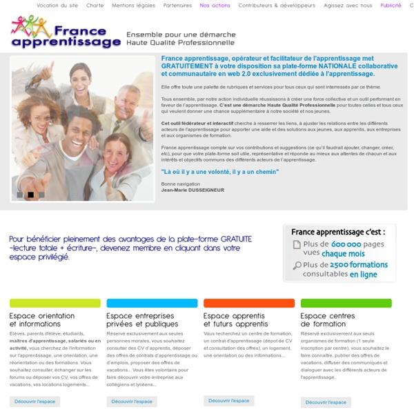 Apprentissage : orientation apprenti, adresse CFA, demandes et offres de formations alternance - portail France Apprentissage