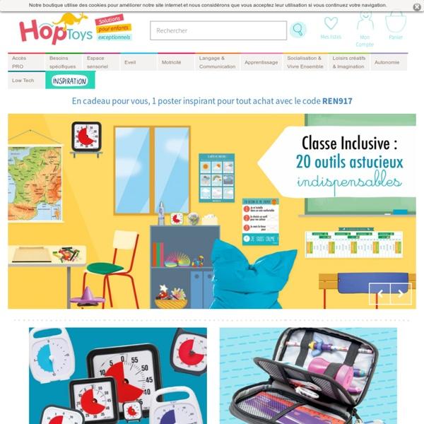 HOPTOYS Jeux ludiques adaptés à l'apprentissage et la rééducation d'enfants & seniors porteurs de handicap - HOPTOYS