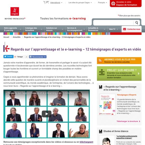 12 témoignages d'experts en vidéo