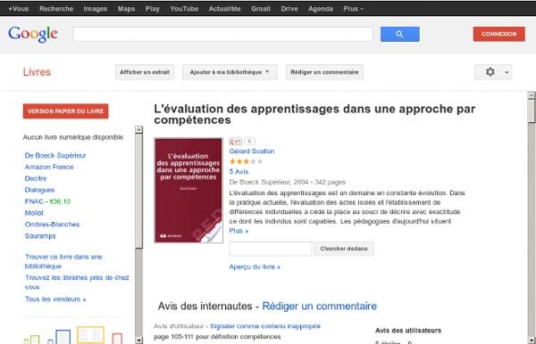 L'évaluation des apprentissages dans une approche par compétences - Gérard Scallon