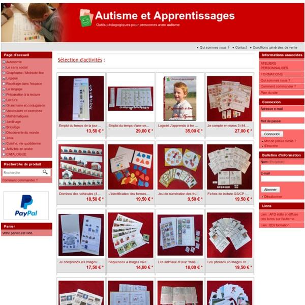 Autisme et Apprentissages - Outils pédagogiques pour personnes avec autisme
