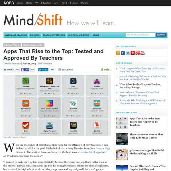 Apps That Rise to the Top: Tested and Approved By Teachers