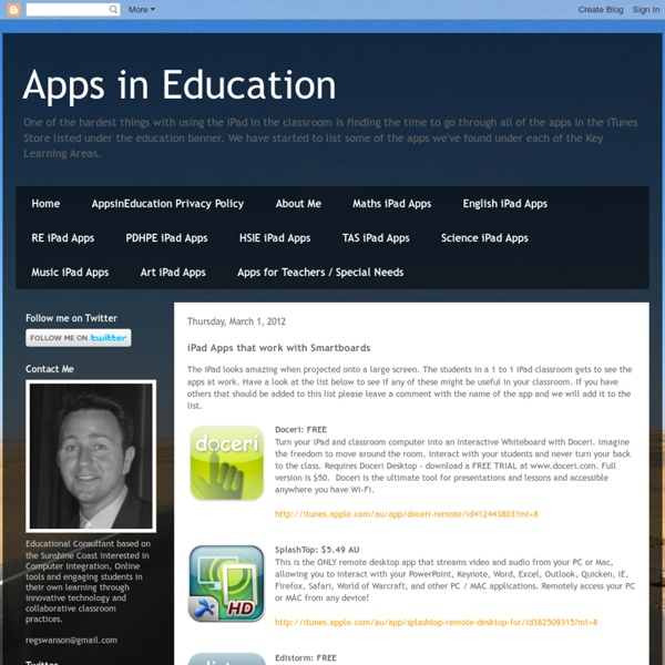 iPad Apps that work with Smartboards