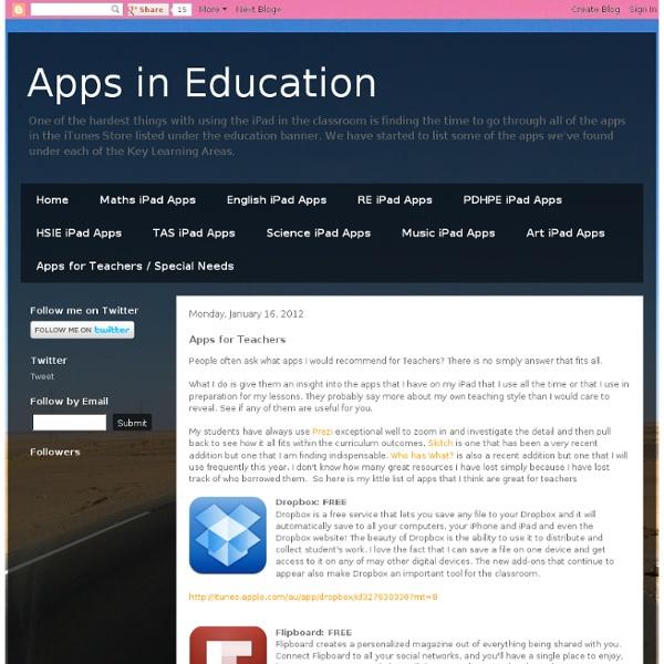 2012 Apps for Teachers