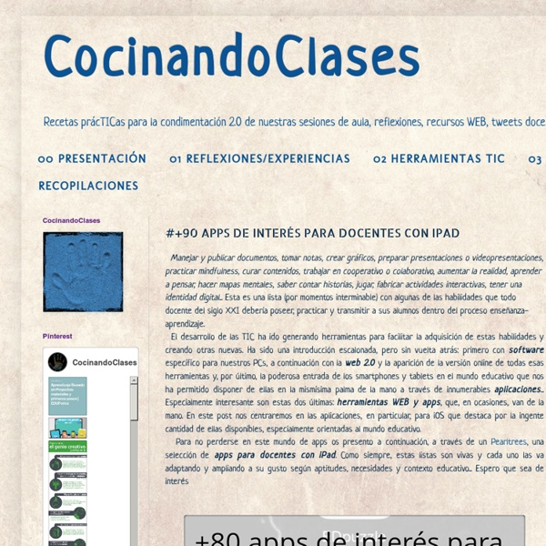 #+90 APPS DE INTERÉS PARA DOCENTES CON IPAD