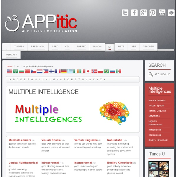 Apps for Multiple Intelligences