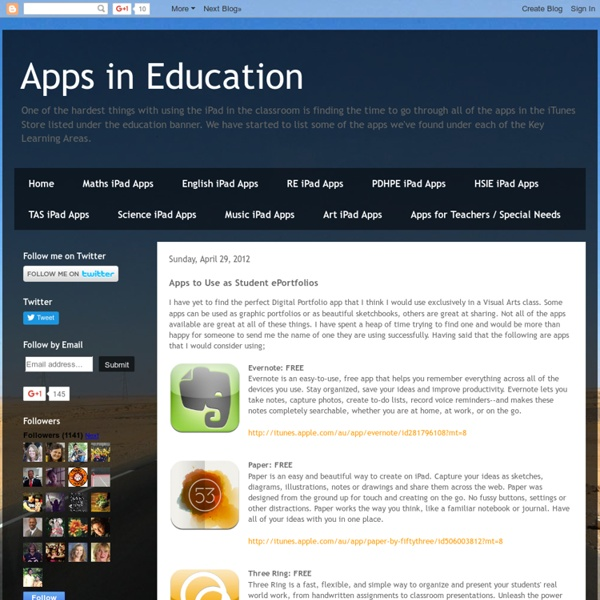 Apps to Use as Student ePortfolios