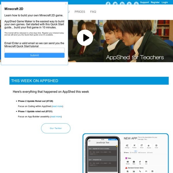 AppShed - Build HTML5, iPhone and Android apps online for schools, education and business