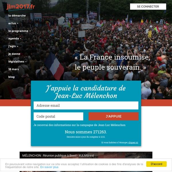 JLM 2017 - Appuyer la candidature de Jean-Luc Mélenchon