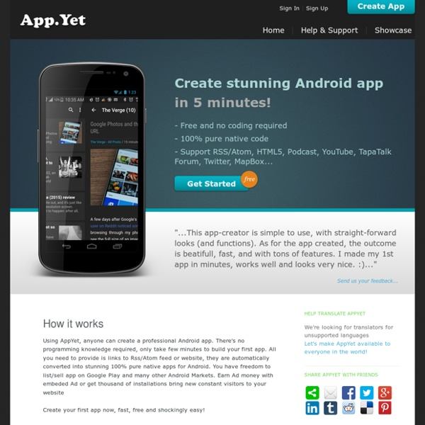 Create Android App FREE!