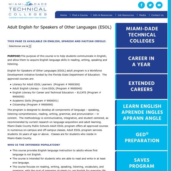 English Classes Miami