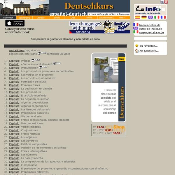 Aprender alemán online - Deutsch lernen - online Lehrbuch