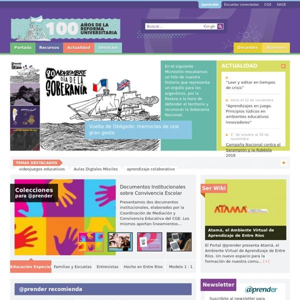 Portal Aprender - El portal del sistema educativo de Entre Ríos