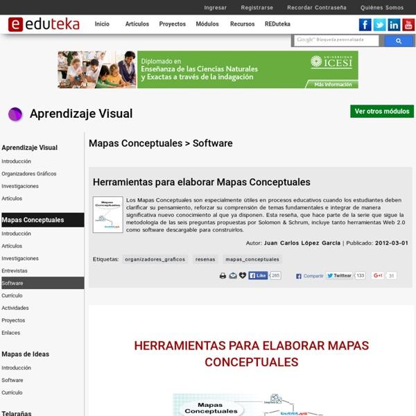 Aprendizaje Visual > Mapas Conceptuales > Software