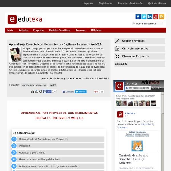 Aprendizaje Esencial con Herramientas Digitales, Internet y Web 2.0