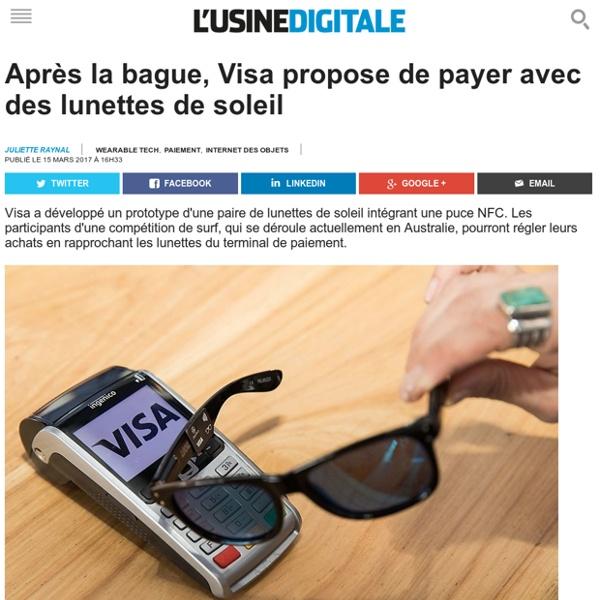 Après la bague, Visa propose de payer avec des lunettes de soleil