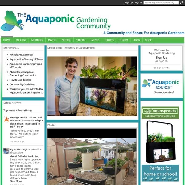 Rik Kretzinger's Page - Aquaponic Gardening