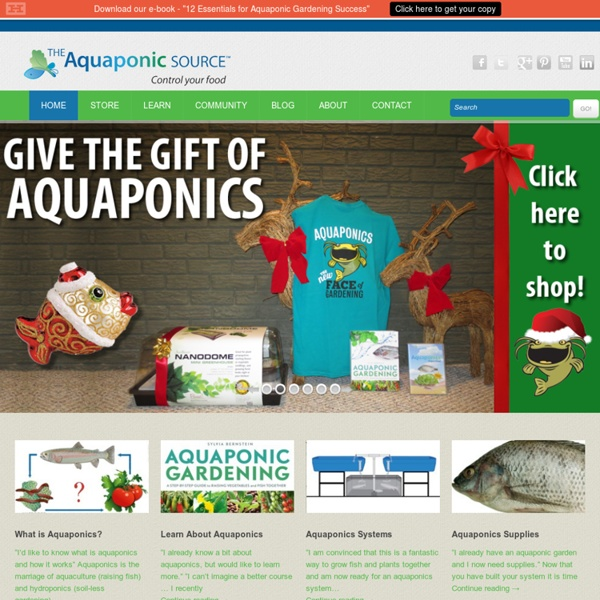 The aquaponic source pearltrees for Aquaponic source