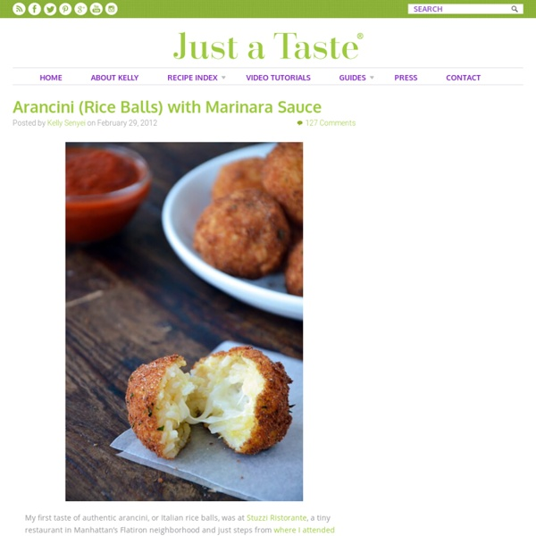 Arancini (Rice Balls) with Marinara Sauce Recipe