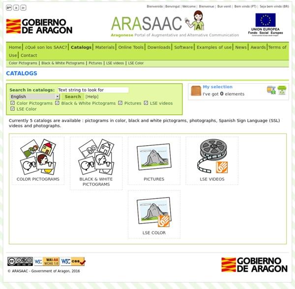 ARASAAC: Catalogues