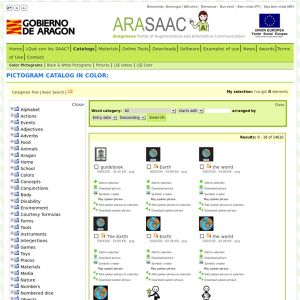 ARASAAC: Pictogram catalog in color