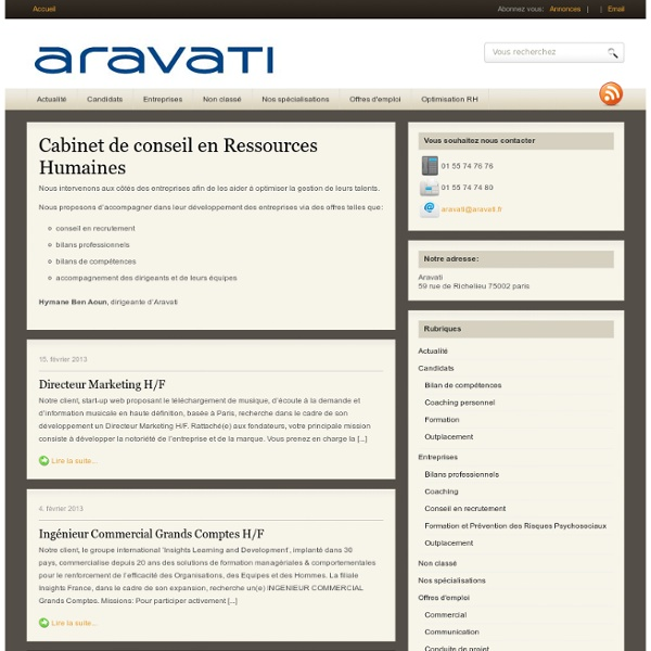 Aravati Cabinet de recrutement