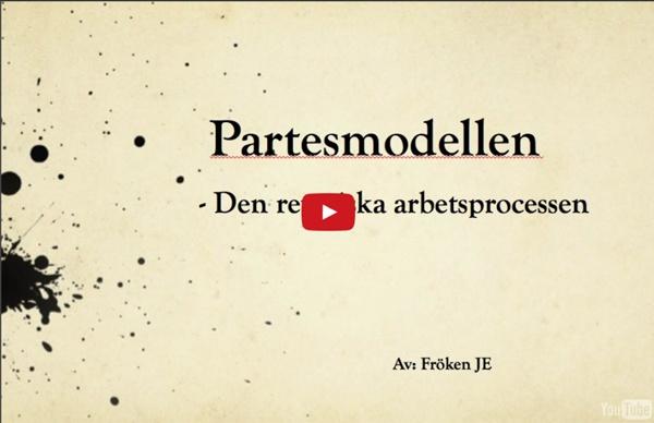 Den retoriska arbetsprocessen partesmodellen