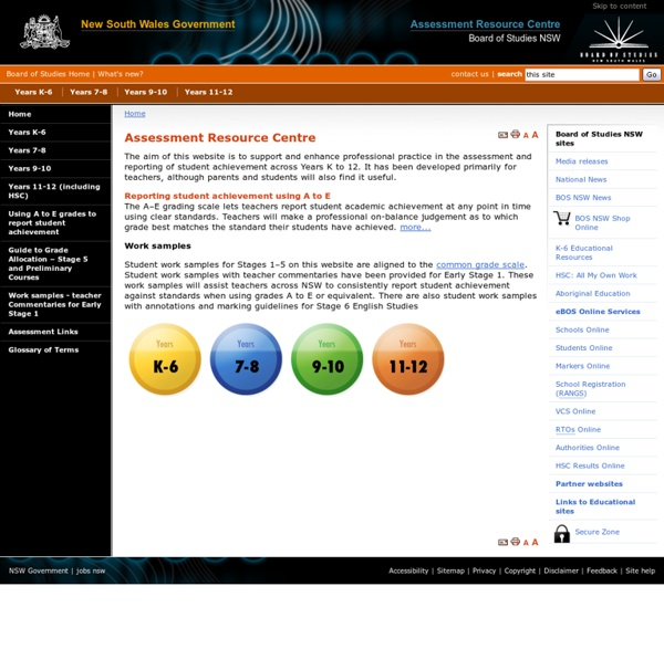 Assessment Resource Centre