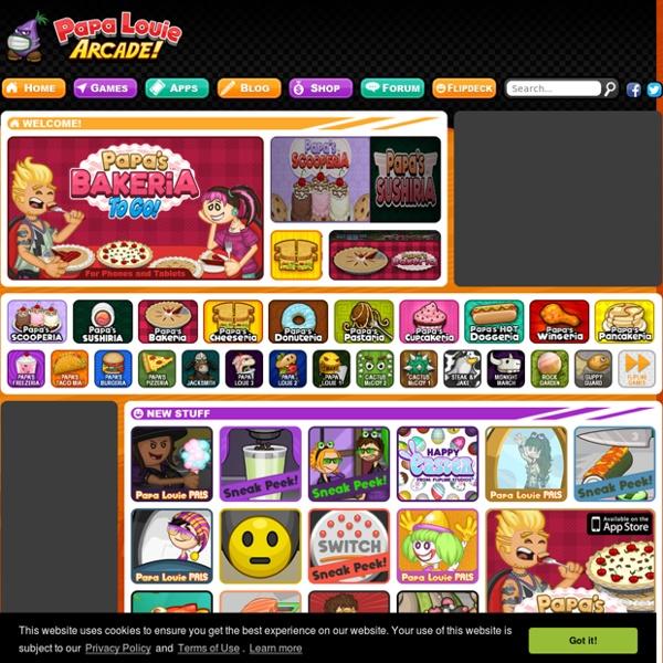 Papa Louie Arcade : Home of Free Games like Papa's Papa's Wingeria and  Papa's Hot Doggeria