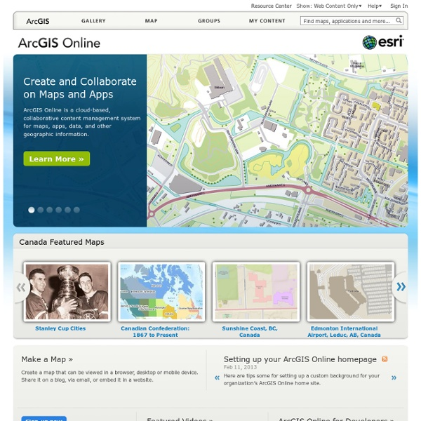 Maps and Apps for EveryoneEasy online discovery, access, visualization, and dissemination of geospatial information.