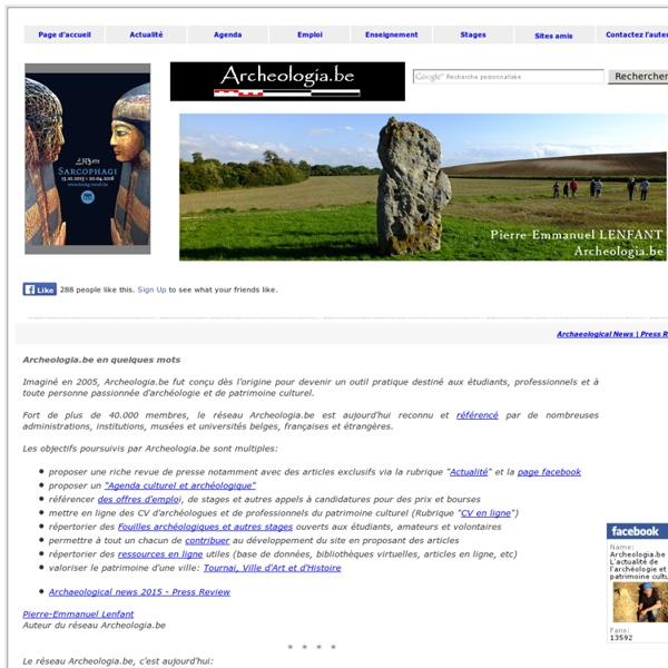 Archeologia.be - L'actualité de l'archéologie et du patrimoine culturel