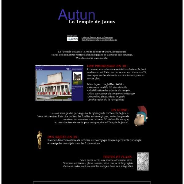 Archéologie et Architecture 3D en Bourgogne: le Temple de Janus à Autun