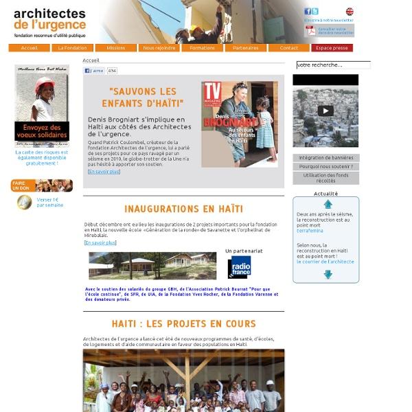 Architectes de l'urgence - Les Actualités des Architectes de l'Urgence