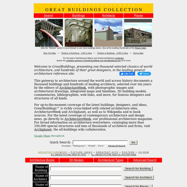 Architecture Design Architectural Images History Models and More - ArchitectureWeek Great Buildings