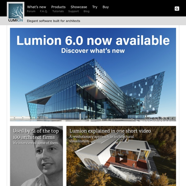 Lumion 3D - a new breed of architectural visualization 3D