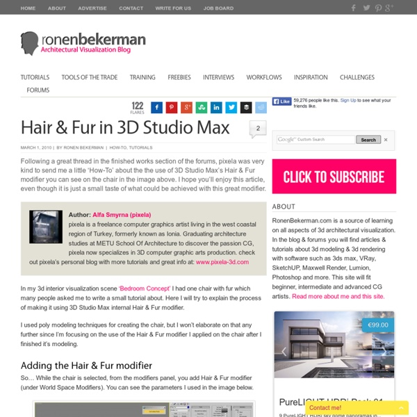 Hair & Fur in 3D Studio Max