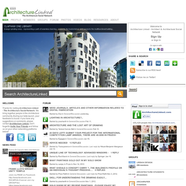 Architecture Linked - Architect & Architectural Social Network
