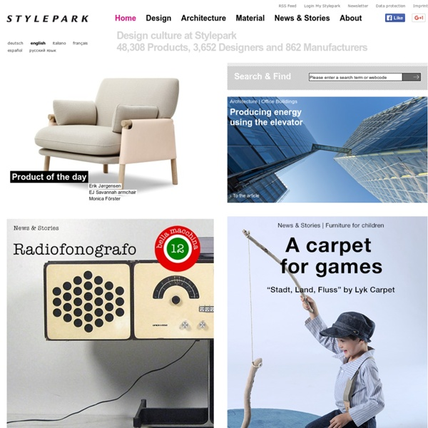 Design, Architecture & Designers at STYLEPARK