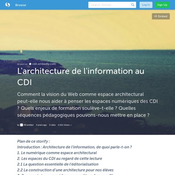 L'architecture de l'information au CDI (avec image) · MCarbillet