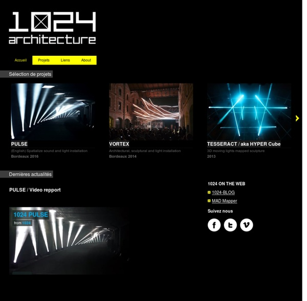 1024 - 1024 architecture / Creative Label / Art Installation / Video Mapping