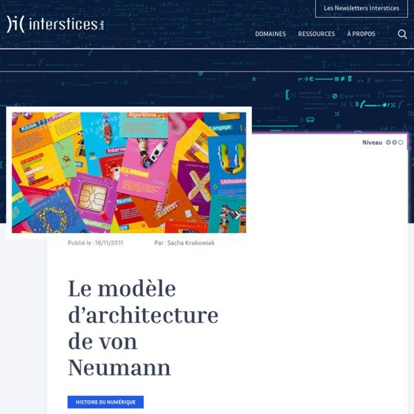 Le modèle d'architecture de von Neumann