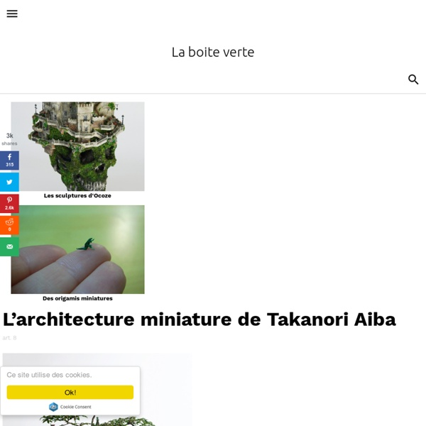 The architecture miniature Takanori Aiba