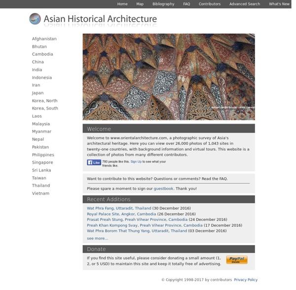 Asian Historical Architecture: a Photographic Survey