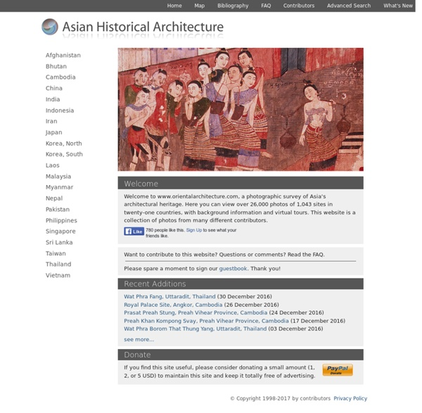 Asian Historical Architecture: a Photographic Survey